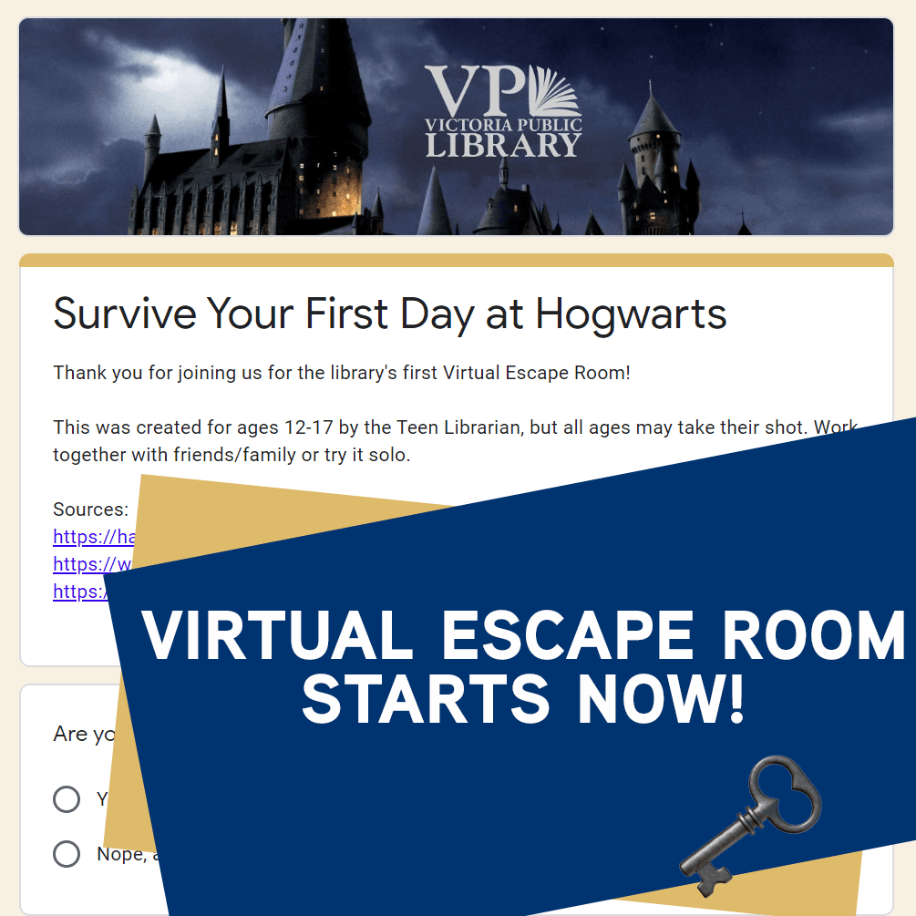 virtual ESCAPE ROOM available now