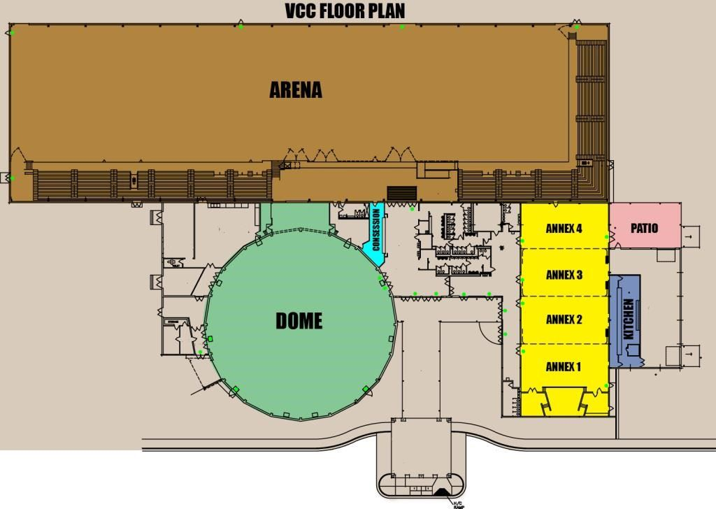 Victoria Community Center floor plan from 12-06-2010